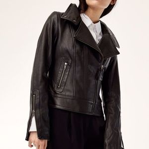 Aritzia Leather Biker Jacket